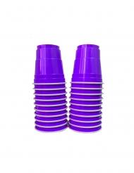 Einweg-Schnapsgläser Halloween- Zubehör 20 Stück lila 40 ml