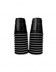 Einweg-Schnapsgläser aus Kunsstoff 20 Stück schwarz 4 cl