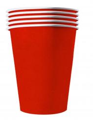Amerikanische-Pappbecher in Übergröße 20 Stück rot 530 ml