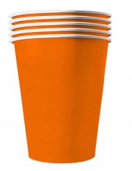 Pappbecher für Feste Tischzubehör orange 20 Stück 530 ml