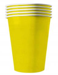 Pappbecher Recycelbar Partyzubehör gelb 20 Stück 530 ml
