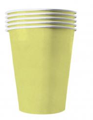 Pappbecher Amerikanische-Trinkbecher 20 Stück gelb 530 ml