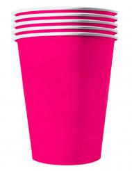 Auffällige Pappbecher Partyzubehör 20 Stück pink 530 ml