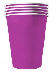 Amerikanische-Pappbecher in groß Tischzubehör 20 Stück violett 530 ml
