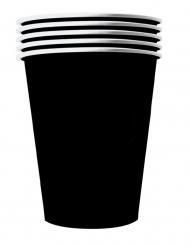 Grosse Pappbecher 20 Stück schwarz 530 ml