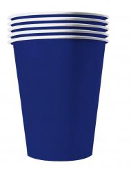 Pappbecher USA 20 Stück dunkelblau 250 ml