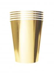 Übergroße Pappbecher recycelbar 20 Stück goldfarben 530 ml