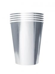 Trinkbecher amerikanisch Partyzubehör 20 Stück silberfarben 530 ml