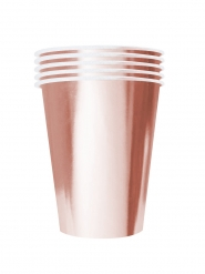 Moderne Pappbecher in Übergröße American Style 20 Stück roségold 530 ml
