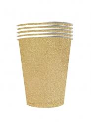 Trinkbecher American Cups Festtafel-Zubehör gold 10 Stück 530 ml
