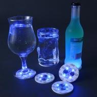 Getränke LED-Untersetzer für Partys 4 Stück bunt