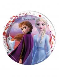 Frozen 2™-Pappteller Tischzubehör von Disney™ 8 Stück bunt 23 cm