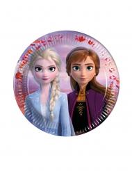 Frozen2™-Pappteller für Kindergeburtstage klein 6 Stück bunt 18 cm