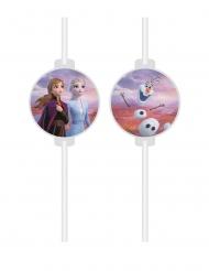 Disney Frozen2™-Strohhalme Party-Zubehör 4 Stück bunt