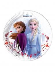 Frozen2™-Party-Teller Tischzubehör für Kindergeburtstage 8 Stück bunt 23cm