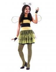 Entzückendes Bienen-Kostüm für Damen Faschings-Verkleidung schwarz-gelb