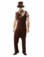 Steampunk-Herrenkostüm viktorianische-Verkleidung braun-schwarz