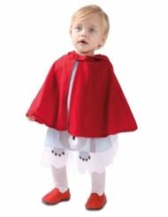 Märchenhaftes Rotkäppchen Mädchenkostüm für Karneval weiss-rot-braun