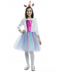 Verträumtes Einhorn-Kostüm für Mädchen Faschings-Verkleidung pastellfarben
