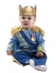 Süßes Prinzen-Kostüm für Babys Faschings-Verkleidung blau-goldfarben