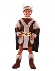 Pompöses Wikinger-Kinderkostüm für Jungen Karnevals-Verkleidung braun
