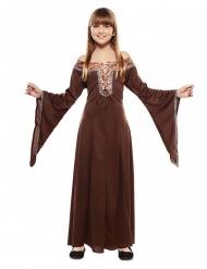 Mittelalterliches Kinderkostüm für Mädchen Faschings-Verkleidung braun