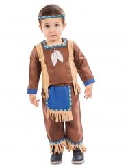 Süßes Indianer-Kostüm für Jungen Kleinkind-Verkleidung braun-blau-beige