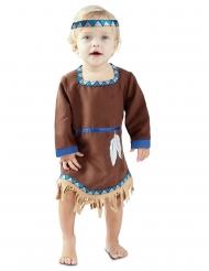 Indianer-Kostüm für Kleinkinder Wilder Westen braun-blau-beigefarben