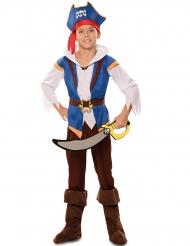 Abenteuerliches Piratenkostüm für Jungen Karnevals-Verkleidung blau-braun