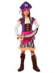 Hübsches Piratinnen-Kostüm für Mädchen Fasching bunt