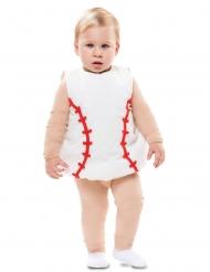 Baseball-Babykostüm Faschings-Verkleidung für Kleinkinder weiss-rot