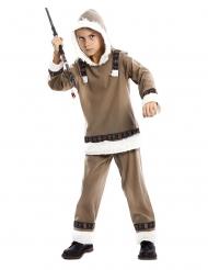 Warmes Eskimo-Kostüm für Jungen Karnevals-Verkleidung braun
