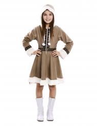 Kuscheliges Eskimo-Mädchenkostüm Karnevals-Verkleidung braun