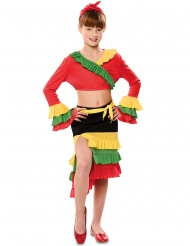Tänzerisches Rumba-Kostüm für Mädchen Faschings-Verkleidung bunt
