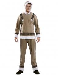 Nordpol-Kostüm Eskimo-Verkleidung für Herren beigefarben