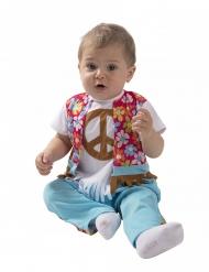 Hippie-Babybkostüm 60er-Jahre-Verkleidung für Fasching bunt