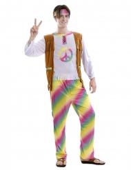 Psychedelisches Hippie-Kostüm für Herren 3-teilig bunt