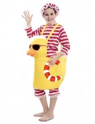 Sommerliches Badeenten-Kostüm für Kinder Fasching gelb-rot