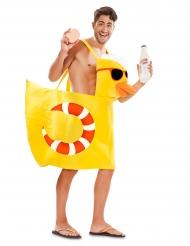 Poolparty-Badeenten-Kostüm für Erwachsene gelb
