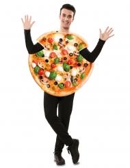 Leckeres Pizzakostüm für Erwachsene Karnevals-Verkleidung bunt