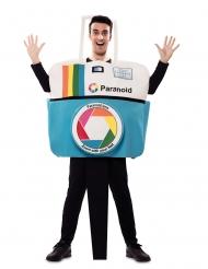 Lustiger Fotoapparat Karnevals-Kostüm für Erwachsene weiss-blau