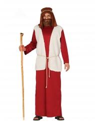 Hirtenkostüm für Herren weihnachtliche-Verkleidung rot-weiss