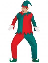 Wichtel-Kostüm für Herren graün-rot Weihnachten