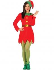 Wichtelkostüm für Damen rot Weihnachten