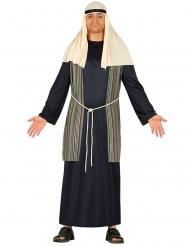 Hirten-Kostüm für Herren Weihnachtskrippe blau