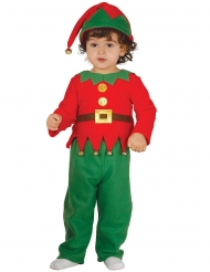 Wichtel-Kostüm für Kleinkinder rot-grün Weihnachten