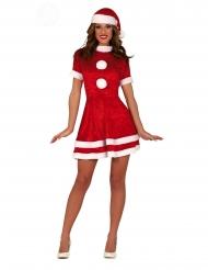 Sexy Weihnachtsfrau Damenkostüm für Festlichkeiten rot-weiss