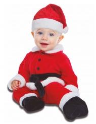 Süßes Weihnachtsmann-Kostüm für Kleinkinder rot-weiss