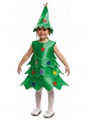 Lustiges Tannenbaum-Kinderkostüm für Weihnachten grün-bunt