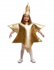Sternen-Kostüm für Kinder weihnachtliche-Verkleidung gold